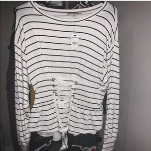 Corset sweater from Express